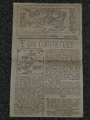 WWII US Navy Newsletter The Octopus Dated March 21 1945