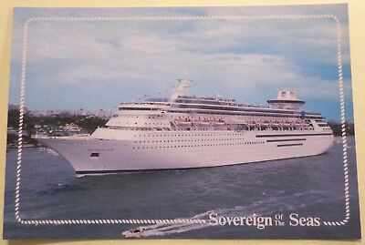 mv Sovereign of the Seas . Royal Caribbean Cruise Line Ship RCCL Maiden Boat