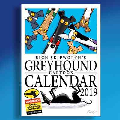 Rich Skipworth's Greyhound Cartoon Calendar