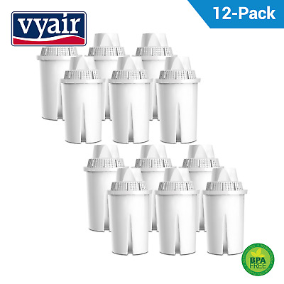 12 Water Filter Cartridge Compatible for Brita Classic & PearlCo Classic Vyair