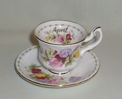 Royal Albert Flower of the Month April Sweet Pea MINIATURE Cup & Saucer