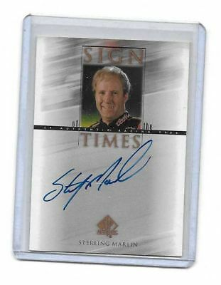 2000 Upper Deck SP Authentic Sign Of The Times Sterling Marlin BV$$$ MUST SEE!