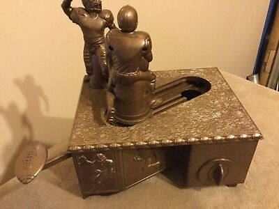 """Vintage Football Player """"Passes"""" Coin Mechanical Bank By Sports Banks"""