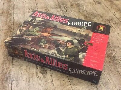 AXIS & ALLIES EUROPE WWII Military Strategy Game Avalon Hill 1999 EXC CONDITION