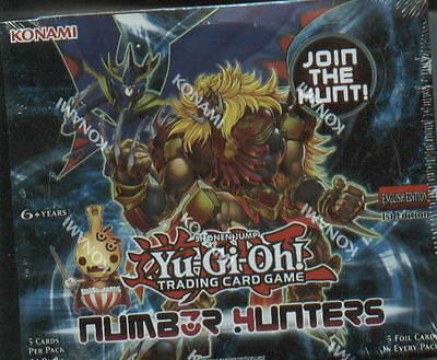 Yu Gi Oh  Number Hunters English 1st Edition FACTORY SEALED Booster Box