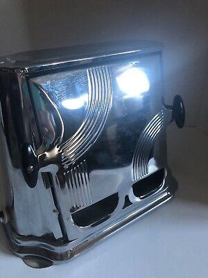 Vintage Art Deco Sun Chief Toaster Series 680 Two Sided Loading Electric Works