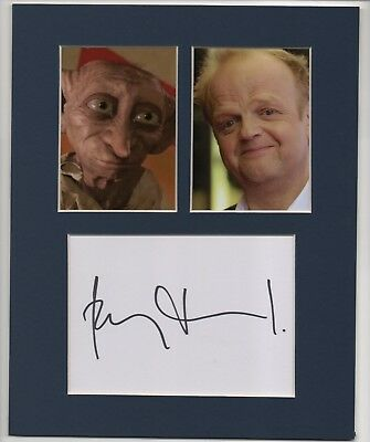 """Toby Jones : Genuine 10"""" X 8"""" Matted Signature And 'Dobby' Presentation."""