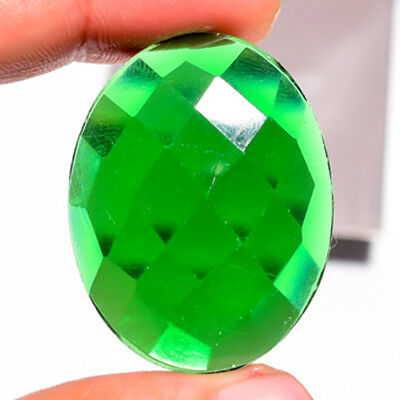 52.95 Ct. Green Onyx Oval Cabochon Gemstone 39X30X7 Mm Ks-8246