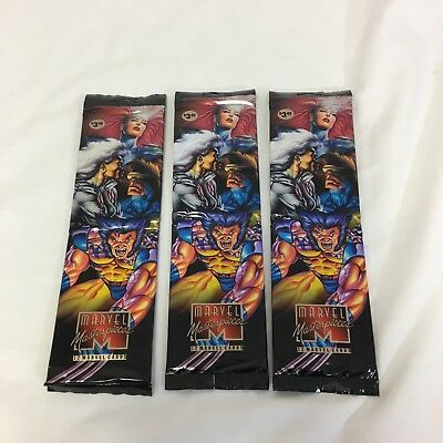 Marvel Masterpieces 1995 Trading Cards - Rare Sealed Double Packs!