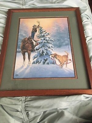 Home Interiors Christmas/Horse Picture Jack Sorenson Art