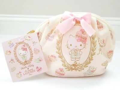 Hello Kitty Laduree Paris Zippered Pouch / Makeup Bag - New With Tags - Sanrio