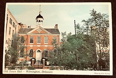 DELAWARE Old Town Hall~Wilmington~Erected in 1798~Now Historical Society Museum