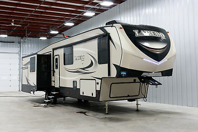 NEW KEYSTONE LAREDO 380MB REAR LIVING 5TH WHEEL MID BUNK AND LOFT w/7YR WARRANTY