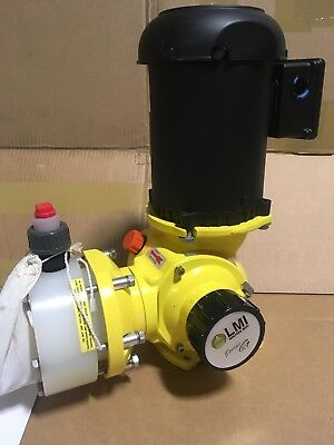 LMI Metering Pump SD7382P 50 GPH, 100 psi, PVDF, Manual Control