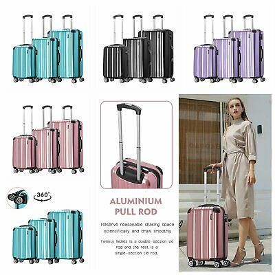 Hard Shell Case Large Cabin Size Spinner Trolley Hand Luggage Bag TSA Suitcases