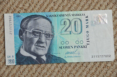 Finland 20 Markka Banknote Paper Currency