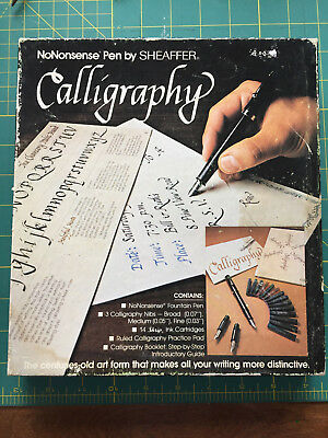 Vintage Calligraphy Set By Sheaffer Pens Practice Paper Instructions