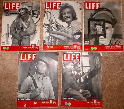 LIFE MAGAZINES War Years 1941 1943 1944 1945 ALL ADS LISTED WWII military photos