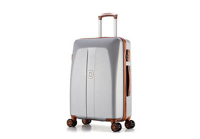 E47 Grey Universal Wheel Coded Lock Travel Suitcase Luggage 26 Inches W