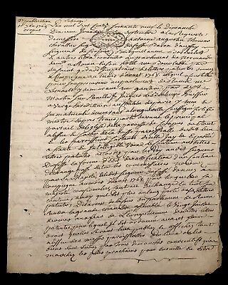 1769 Old Document on Paper