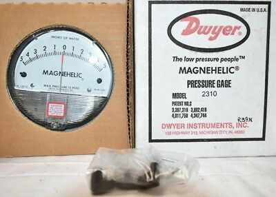Dwyer Magnehelic 2310 Differential Pressure Gauge 5-0-5 Inches of Water NEW