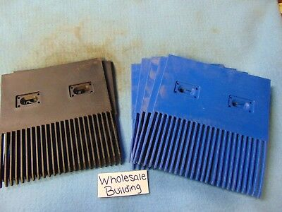 Unichain, Finger Plate/combs, Snb-I-K600, (2)Black, (5)Blue, Lot Of 7