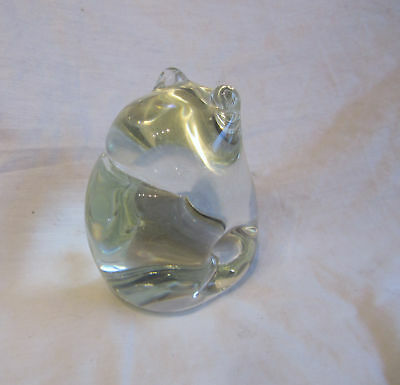 A Solid Glass Frog Figure