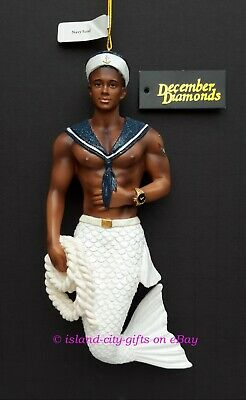PRESALE December Diamonds NAVY SOUL Sailor Merman Ornament, New for FEB 2019 !