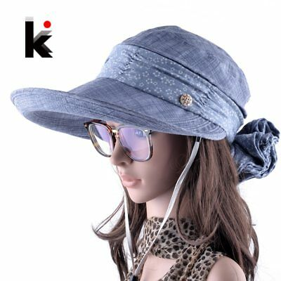 Sun Hats With Face Neck Protection For Women Sombreros Mujer Verano Wide Brim