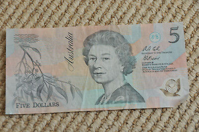 Australia Five Dollars Polymer Banknote Paper Currency