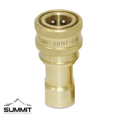 1/4″ NPT ISO 7241-B Brass and Stainless Steel Quick Disconnect Female Coupler