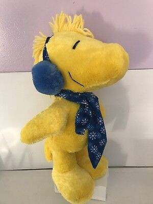 "NWT! 2017 Peanuts 19"" Woodstock Stuffed Plush Christmas Porch Greeter"