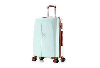 E42 Blue Universal Wheel Coded Lock Travel Suitcase Luggage 26 Inches W