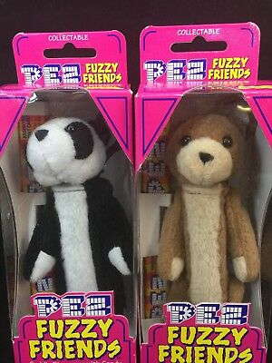 Vintage Pez Fuzzy Friends Set Of 2 Jade And Buddy 2000 Original Packaging Dakin