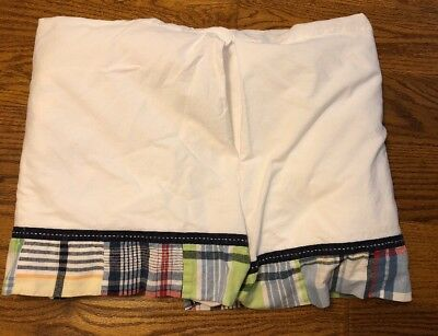 Pottery Barn Kids Madras Plaid Crib Skirt