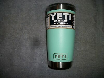 Yeti 20 oz. rambler tumbler with magslider lid - in Seafoam color-BRAND NEW
