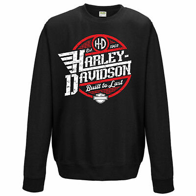 HARLEY-DAVIDSON Motorcycles | BUILT TO LAST | Sweater | NEU | S M L XL XXL 3XL