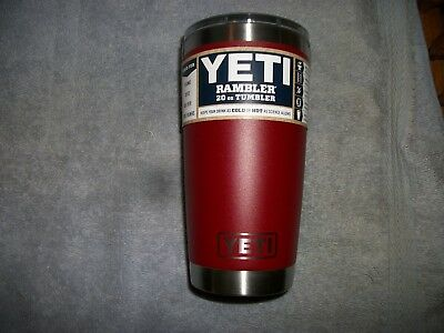 Yeti 20 oz. rambler tumbler with magslider lid - in brick red color-BRAND NEW