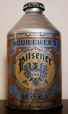 Neuweillers Pilsener  Beer Crowntainer Beer Can Irtp - Dark Blue Color