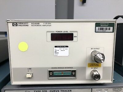 HP Agilent Keysight 8349B Microwave Amplifier, 2 to 20 GHz, Low Output (AS-IS)