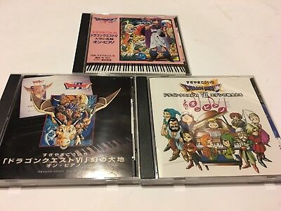 Dragon quest ost game soundtrack cd lot set piano collection 5 6 7 v vi vii