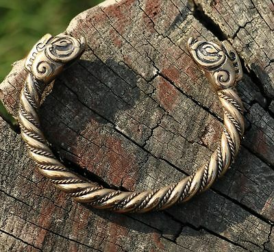 COLLACH Celtic Wild Boar Bracelet Pagan Jewellery Jewelry Scottish Irish BRONZE