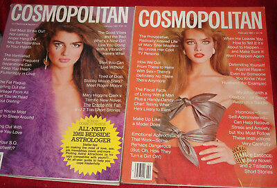 Lot Of Six Vintage Cosmopolitan Magazines From 1981!!!
