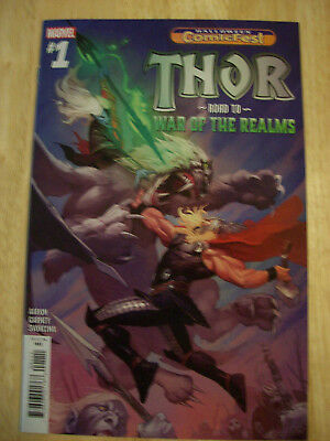 Thor Road to War of the Realms # 1 NM / VF Condition, ComicFest 2018, Marvel