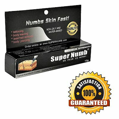 10G SUPER NUMB Numbing Cream Anesthetic Painless Tattoo Piercing ...
