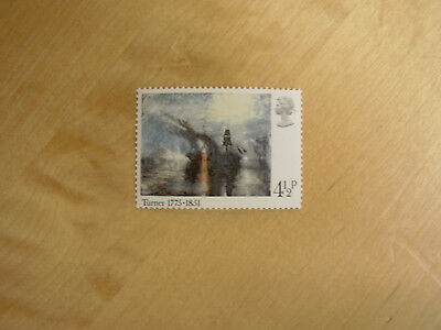 4.5p Art stamp J M W Turner painting Peace Burial at Sea David Wilkie 1975 GB UK