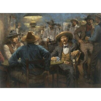 """""""Wild Bill's Last Deal"""" by Andy Thomas - Limited Edition Giclee on Canvas"""
