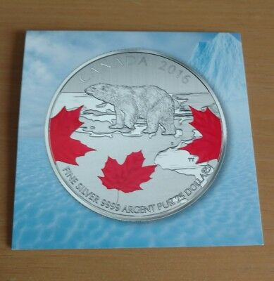 2016 Canada (25$ for 25$) .9999 Fine silver Coin POLAR BEAR
