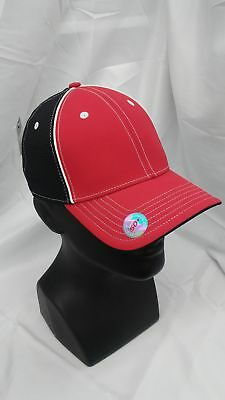 a6775202103 New Taylormade Custom Cage Fitted Hat Red Black L XL