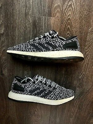 66cf6a8c1 Adidas Pure Boost Oreo Core Black Running Shoes BA8890 Men s Size 11.5
